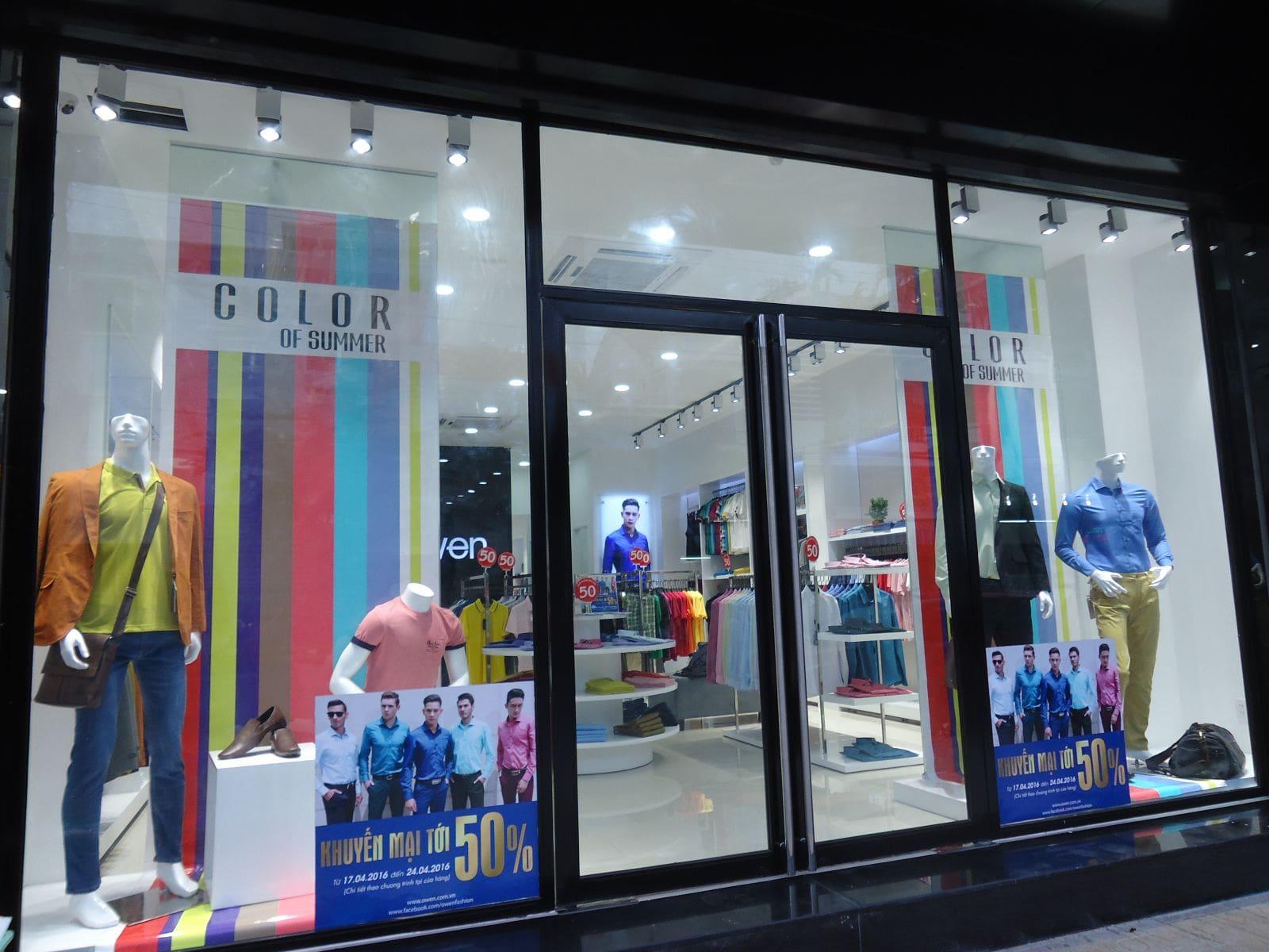 shop thời trang nam ở Nha Trang