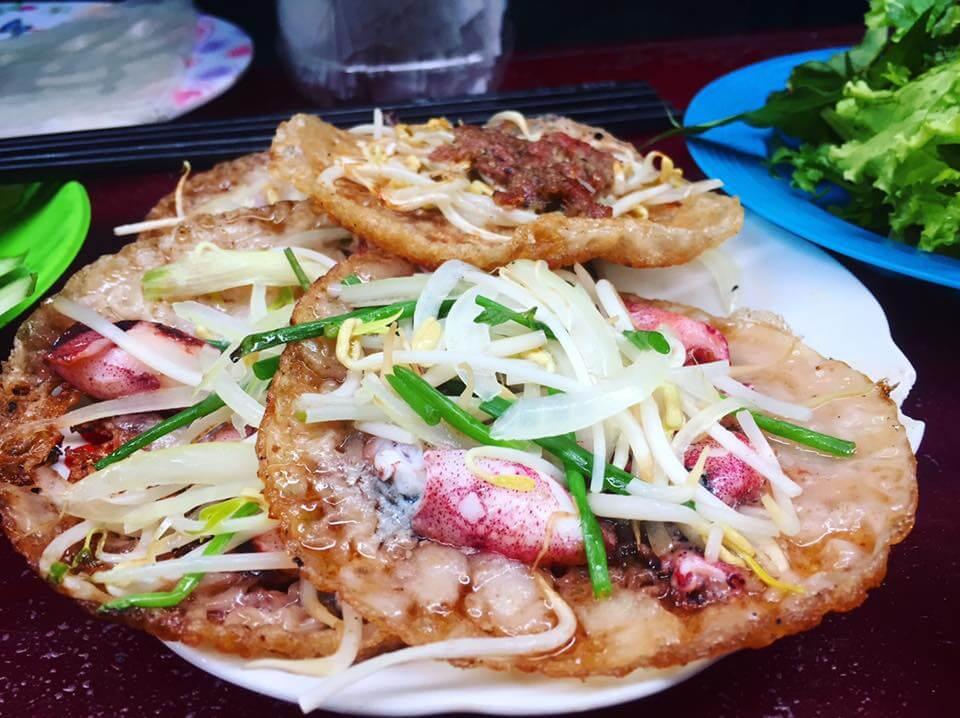 Bánh Xèo Mực Ngon Ở Nha Trang